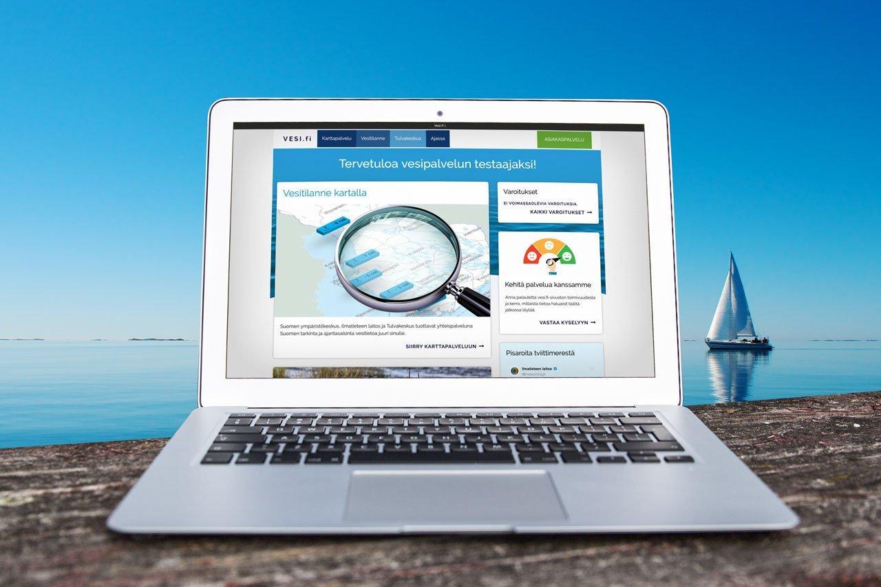 Vesi.fi on tutkitun vesiaiheisen tiedon lähde