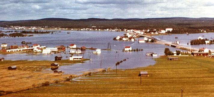 Pellon tulva 9.6.1968. Kuva Esko A. Ylitalo.