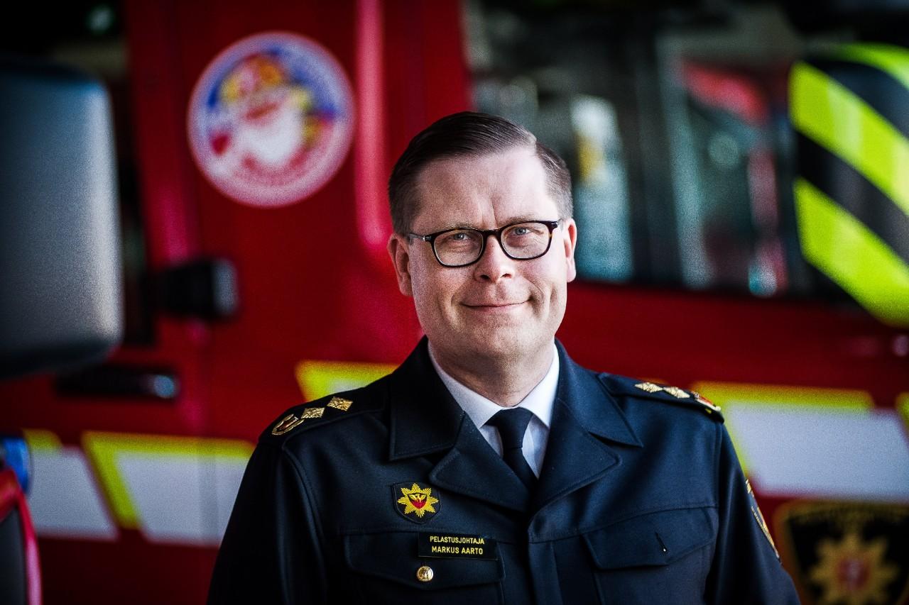 Kuvassa Markus Aarto pelastusjohtaja Lapin pelastuslaitos.