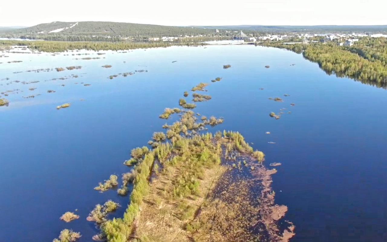 Lapin ELY-keskus: Ounasjoen suiston tulvaa 1.6.2020