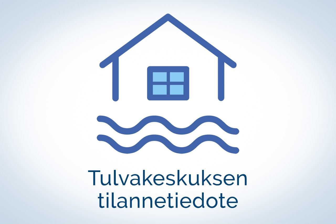 Tulvakeskuksen tilannetiedotteen tuotekuva.