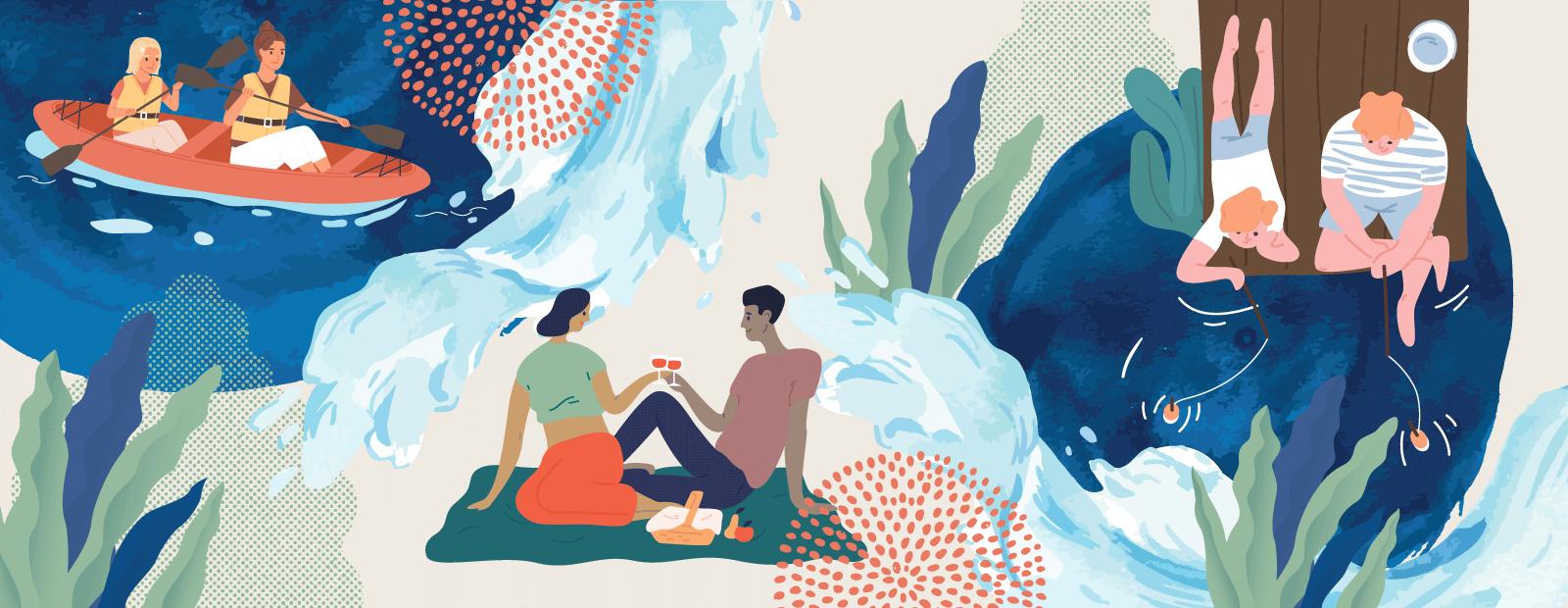 Vinkit vesien ystäville kuvituskuva